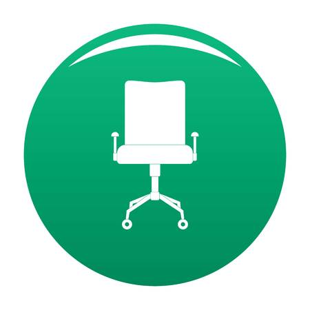 Leather chair icon. Simple illustration of leather chair vector icon for any design green
