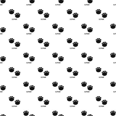 Elephant step pattern seamless vector