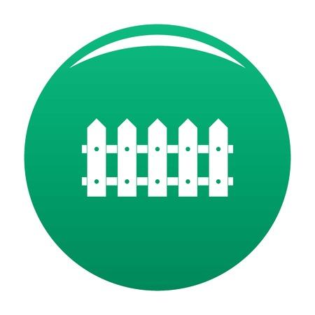 Rare fence icon vector green Vecteurs