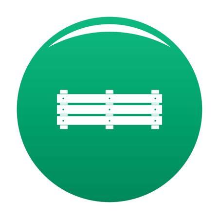 Wide fence icon vector green Vecteurs