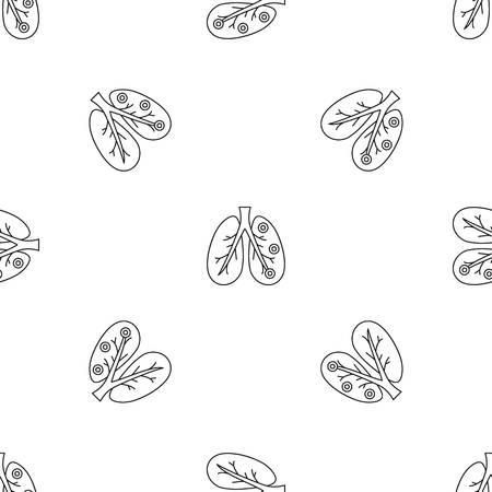 Bronchitis lungs pattern seamless vector repeat geometric for any web design