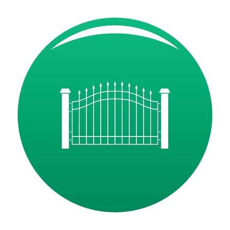 Park fence icon vector green