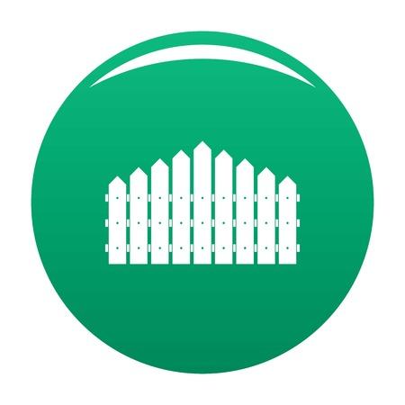 Clôture triangulaire icône vecteur vert