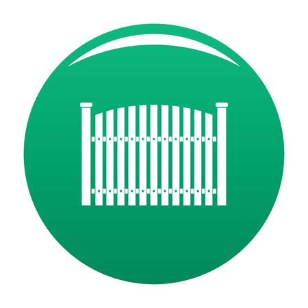 Wooden fence icon vector green