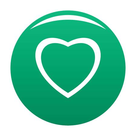 Fearless heart icon vector green