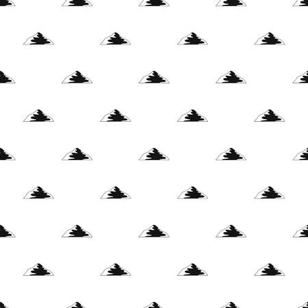 Asian mountain pattern seamless vector Ilustração