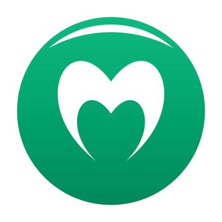 Prophetic heart icon vector green