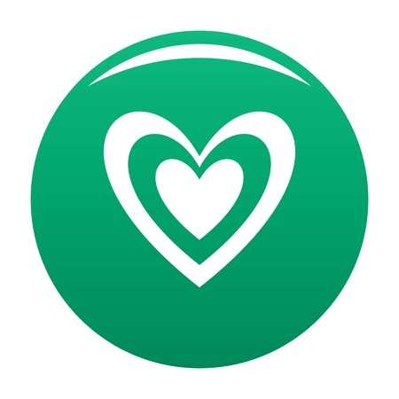 Masculine heart icon vector green Illustration