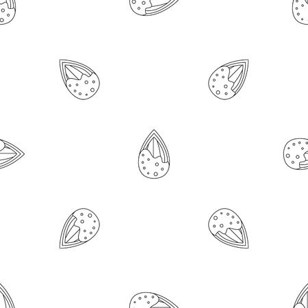 Crack almond pattern seamless vector