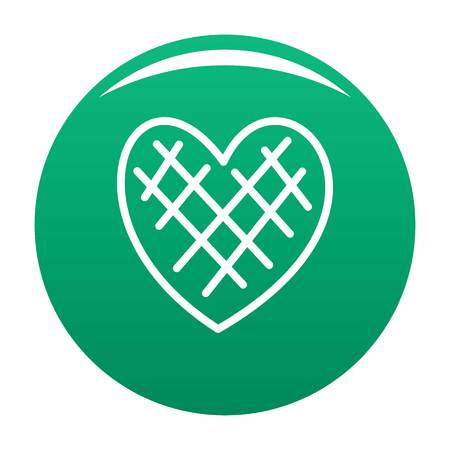 Impressionable heart icon vector green