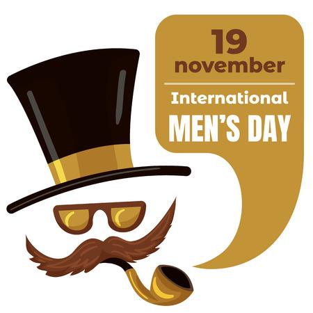 International men day concept background, cartoon style Vector Illustration