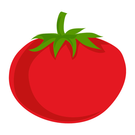 Red eco tomato icon, cartoon style