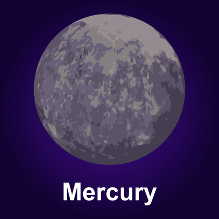 Mercury icon. Isometric of mercury vector icon for web design