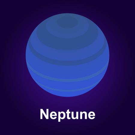 Neptune planet icon. Isometric of neptune planet vector icon for web design