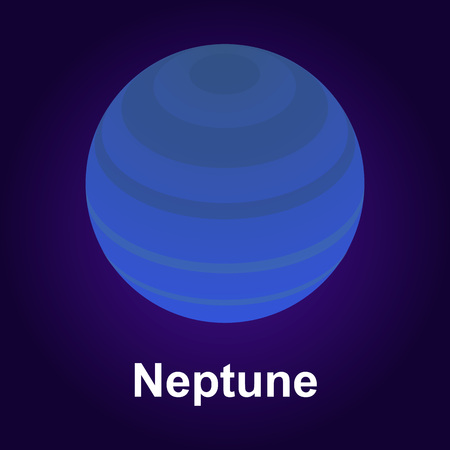 Neptune planet icon. Isometric of neptune planet vector icon for web design