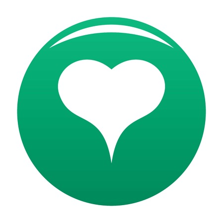 Lion green heart icon, vector illustration. Illustration