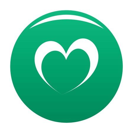 Frantic green heart icon. Simple illustration of-frantic heart, vector illustration. Icon for any design.
