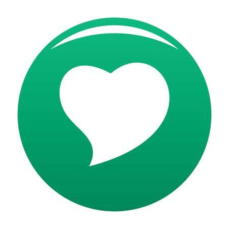 Brave green heart icon, vector illustration. Vectores
