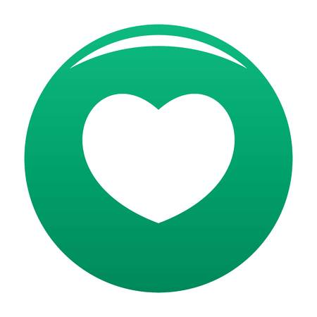 Sympathetic green heart icon, vector illustration.