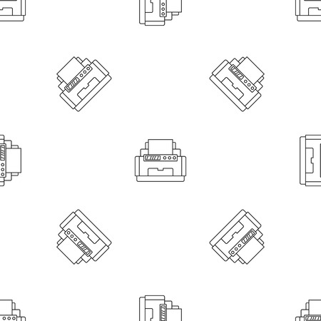 Laser printer pattern seamless vector repeat geometric for any web design Illustration