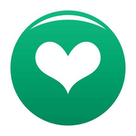 Gustatory green heart icon, vector illustration.