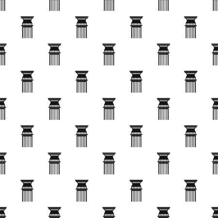 Column pattern seamless, vector illustration.