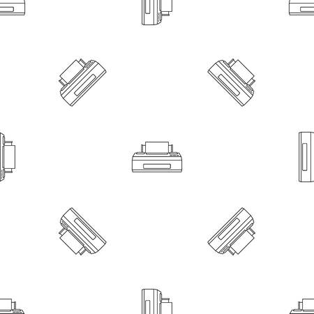 Old printer pattern seamless vector repeat geometric for any web design Illustration