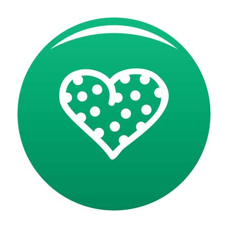 Pea green heart icon, vector illustration.