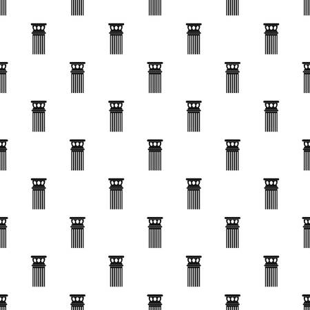 Ancient column pattern seamless, vector illustration. Repeat geometric for any web design Vettoriali