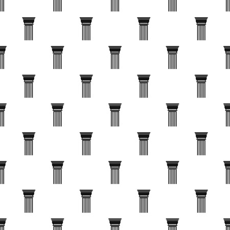 Building column pattern seamless, vector illustration. Repeat geometric for any web design