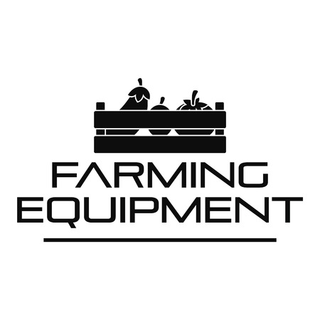 Farming tool logo. Simple illustration of farming tool logo for web design isolated on white background