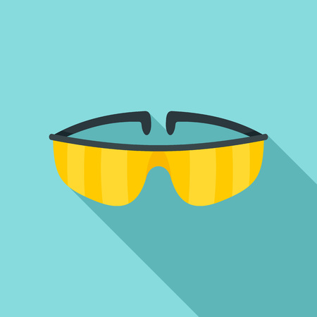 Chemical protect glasses icon. Flat illustration of chemical protect glasses icon for web design 写真素材 - 110880331