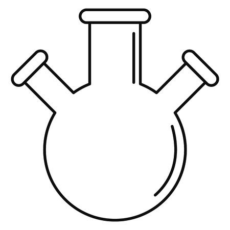 Icône de triple flacon. Contours illustration de l'icône de flacon triple pour la conception web isolé sur fond blanc