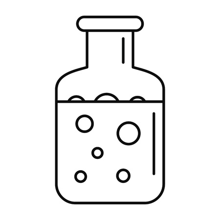 Chemical substance pot icon. Outline illustration of chemical substance pot icon for web design isolated on white background