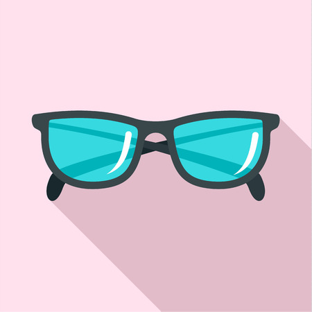 Accounting glasses icon. Flat illustration of accounting glasses icon for web design