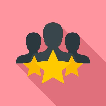 Star customer retention icon. Flat illustration of star customer retention icon for web design
