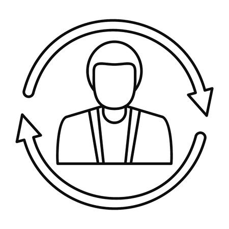 Customer retention icon. Outline illustration of customer retention icon for web design isolated on white background Stock Photo