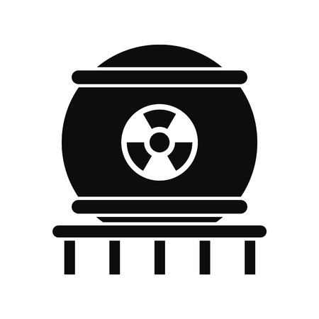 Nuclear energy icon. Simple illustration of nuclear energy icon for web design isolated on white background