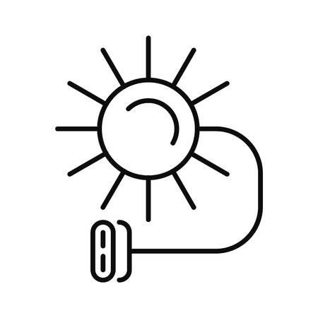 Solar electric icon. Outline illustration of solar electric icon for web design isolated on white background