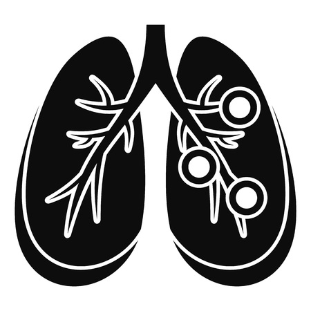 Bronchitis lungs icon. Simple illustration of bronchitis lungs icon for web design isolated on white background