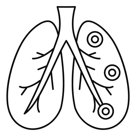 Bronchitis lungs icon. Outline illustration of bronchitis lungs icon for web design isolated on white background Banco de Imagens