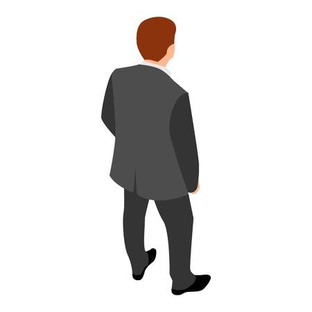Back of businessman icon, isometric style