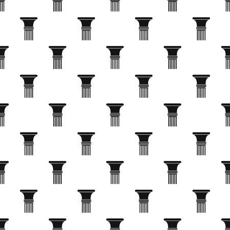 Fluted column pattern seamless vector Иллюстрация