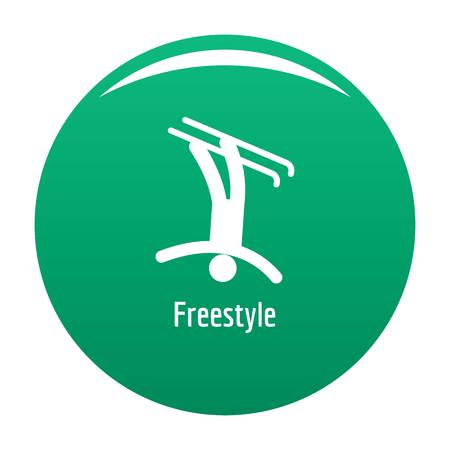 Freestyle icon vector green