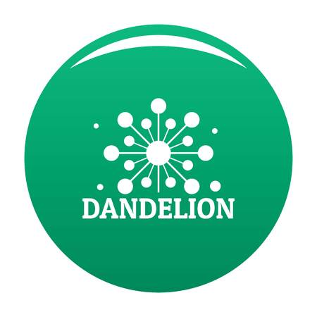 Growing dandelion logo icon vector green