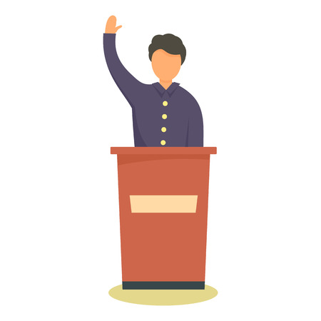 Political candidate icon, flat style