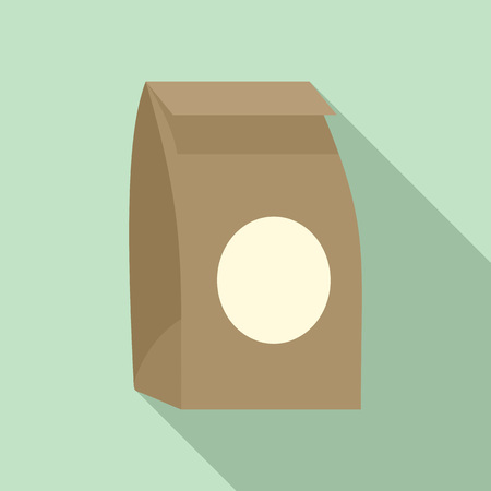 Paper packet icon, flat style