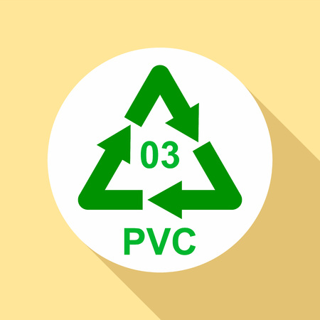Pvc sign icon, flat style