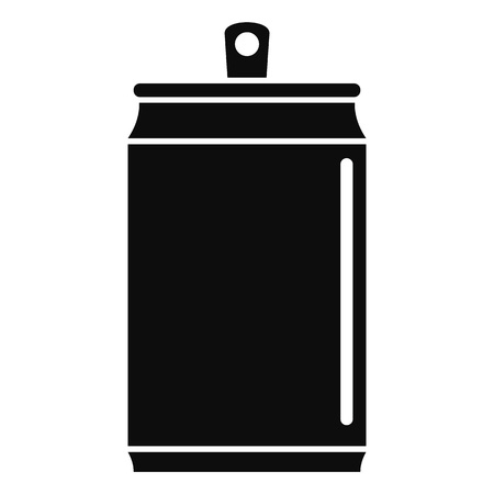 Beer tin can icon, simple style