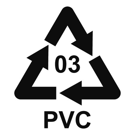 Pvc sign icon, simple style